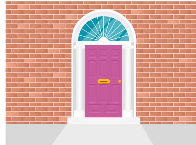 Irish Door Illustration
