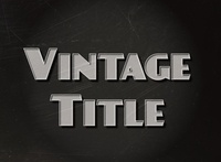 Vintage Text Effect