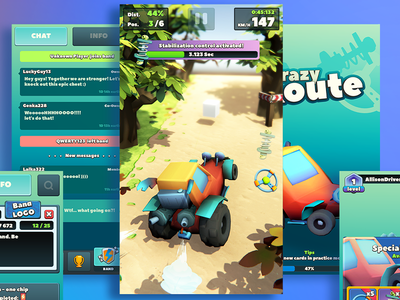 Crazy Route - gameplay unity3d casual ios gameplay animation ux ui mobile game design crazy route art direction 3d 2d