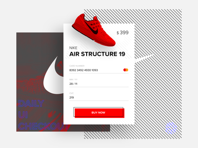 Daily UI 002 Checkout design challenge daily 100 challenge nike shoe nike ui design design daily ui 002 daily ui