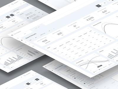 Analytics Platform Wireframes high fidelity design system figma saas dashboard product analytics app admin data chart wireframes clean ux design