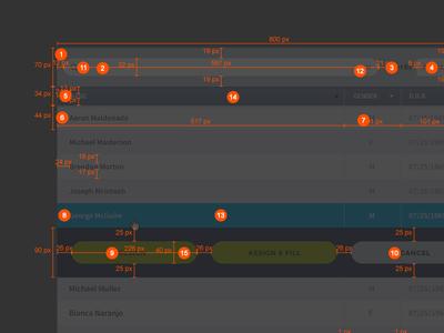 UI Spec flat spec interface healthcare dark medical clean software ui ux
