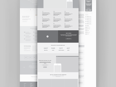 High Fidelity Dilema wireframes ui ia vector illustrator high fidelity home page landing page ux