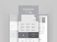 Landing page wireframes
