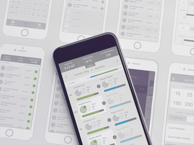 Mobile Wireframes vector ios ux design iphone design mobile ia wireframes app game fantasy sports ux