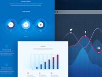 Analytics Platform Page ux funnel analytics ui modern design clean website chart graph data landing page