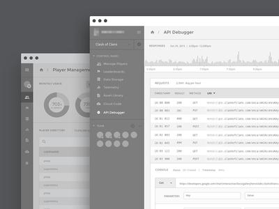 API Dashboard chart dashboard data admin wireframe app product ui ux analytics clean graph