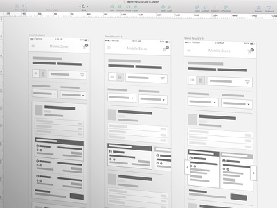 Lo-Fi Wires ecommerce mobile ui app ux mobile cart shopping cart checkout process wireframes clean modern mobile-ux user testing prototype