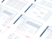 Low Fidelity Wireframe Flow