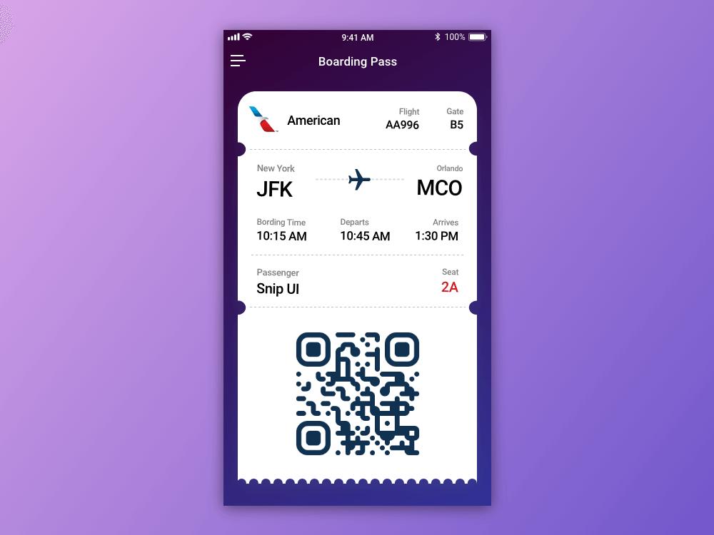 Boarding Pass – Daily UI #024 boarding pass app dailyui 024 dailyui
