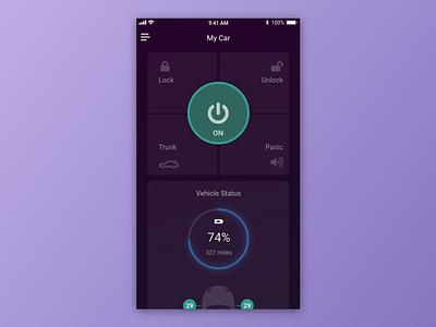 Car Interface madewithadobexd auto dailyui 034 dailyui