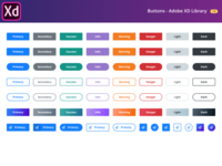 Free Buttons Library - Adobe XD