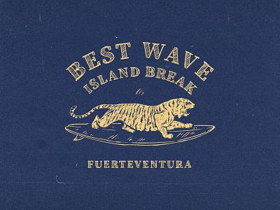 Surf tiger t-shirt print vintage logo retro badge island wave badge logo badge design badge tiger logo grunge texture logodesign retro logo retro design retro illustration surfing surfer surfboard surf t-shirt print design