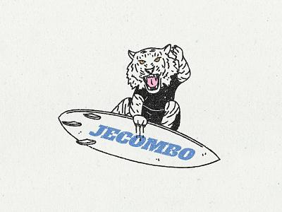 Surf tiger surfers shortboard graphic design tiger logo tiger vintage logo vintage badge retro badge badge texture grunge texture print design illustration retro logo retro design retro surfing surfer surfboard surf