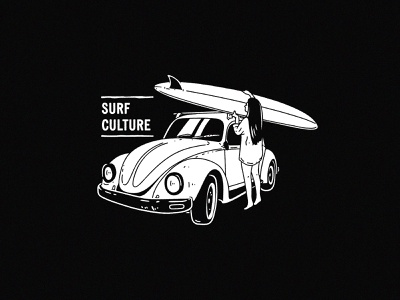 Surf Culture t-shirt print tshirt printing surfboart beetle badge surf badge surf logo surf art surf print surfer girl surfing surf