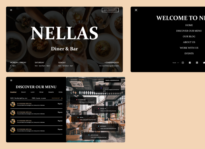 Nellas Diner and Bar restaurant
