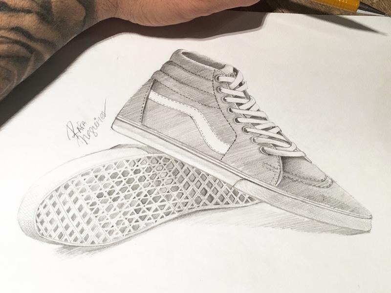 c485cf3f62 Free Hand - Vans Sk8 illustration vans pencil sketch drawing free app  freehand
