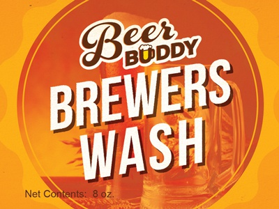 Beer Buddy Brewers Wash label