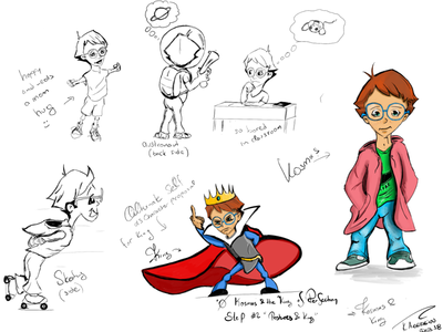 Character Design Phase 2 (Postures & King)