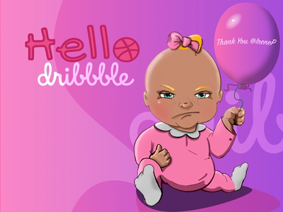 Hello dribbble i'm a Player now 😅 newbie baby serif affinity designer procreate character design illustration first shot