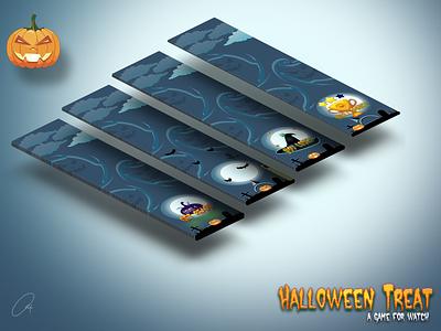 Halloween Treat Game For Watch Isometric character design cartoon game desigm ui watch apple halloween
