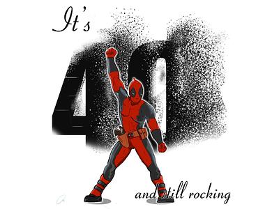 Show Must Go Deadpool thanos avengers white black red marvel comics freddie mercury queen character design illustration comic deadpool