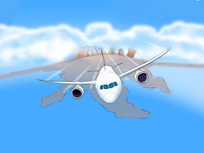 Travel time anyone? fly vacation plane design character design comic illustration