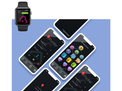 Pivoter - A Game for Watch uidesign userexperiencedesign gamedesign ux ui
