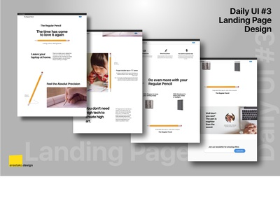 Daily UI 3 - A Regular Pencil Landing Page (Rebound)