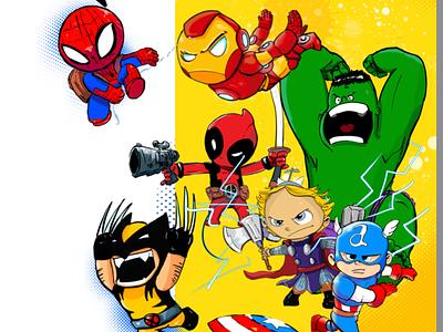 Little marvel inspiration character design heroes gamedesign comic marvel illustration