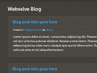 Webvalve Blog