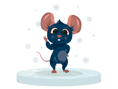 Frosty Freshness rat character animal winter graphicdesign design graphic vectorart vector illustration illustrator adobeillustrator