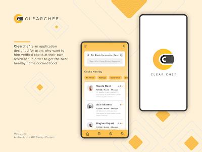 Clear Chef vector mobile design minimal ui ux logo illustration