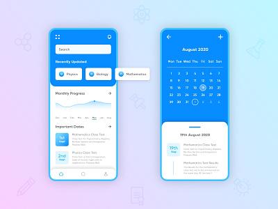 Connect dashboard calendar school teacher parent student theme app icon vector ux ui mobile design minimal
