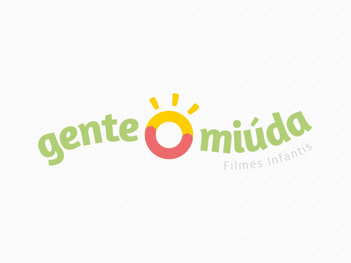 Gente Miúda - Logo Horizontal kids childbook maker video maker photographer modern logo design clean branding