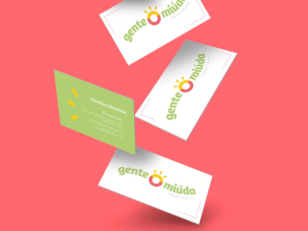 Gente Miúda - Cartão de visita kids childbook maker video maker photographer modern logo design clean branding