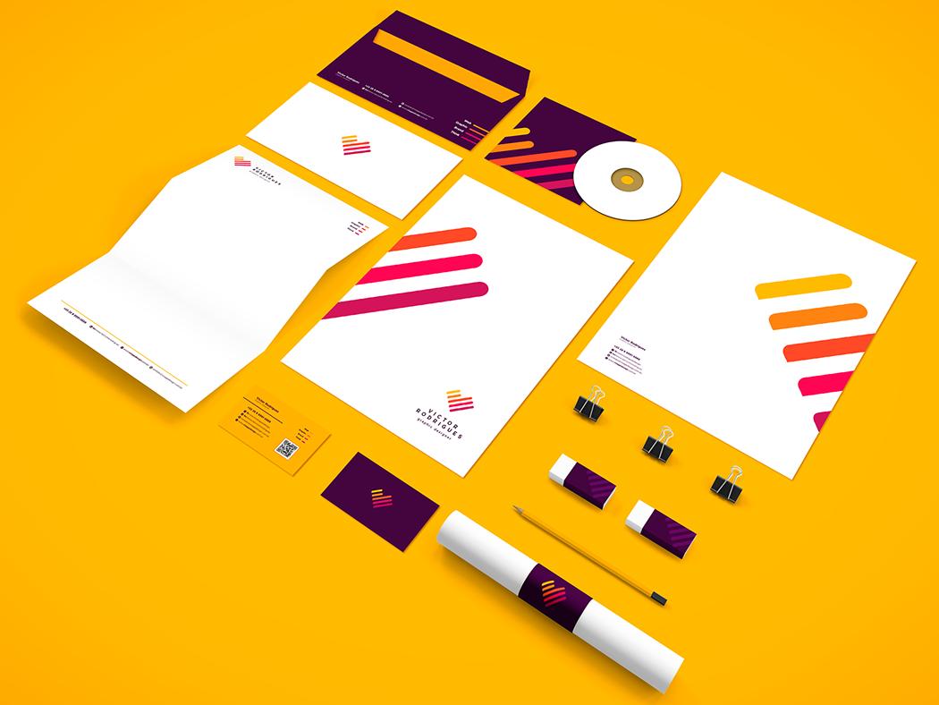 Victor Rodrigues - Logo Design designer logo pesonal designer kids logo modern design clean branding