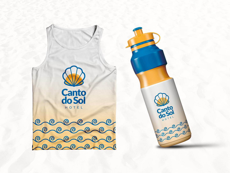 Canto do Sol Hotel - Squeeze shirt squeeze sea shell sun beach praia hotel logo hotel modern logo design clean branding