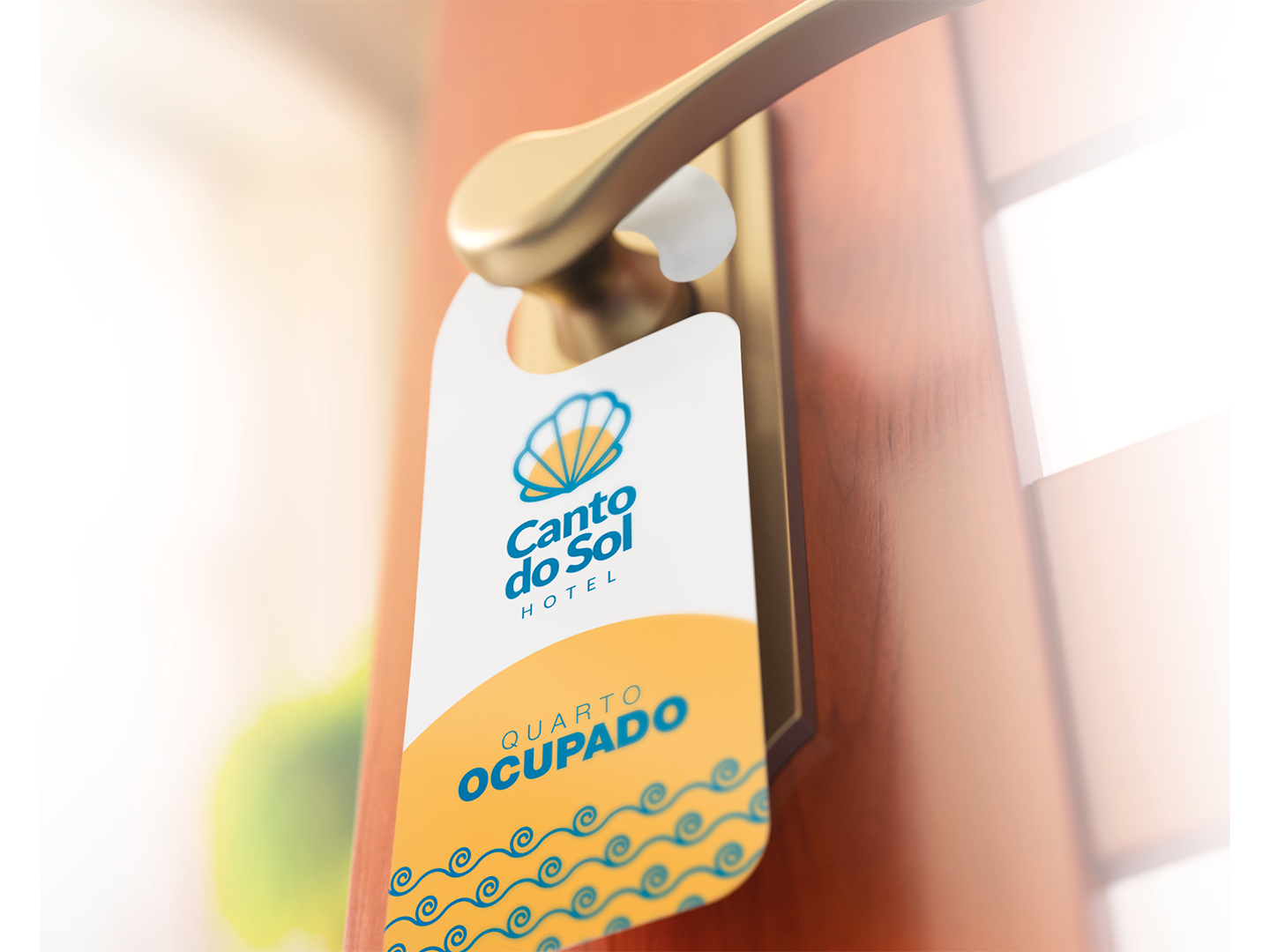 Canto do Sol - Logo Design sea shell sun beach praia hotel logo hotel modern logo design clean branding