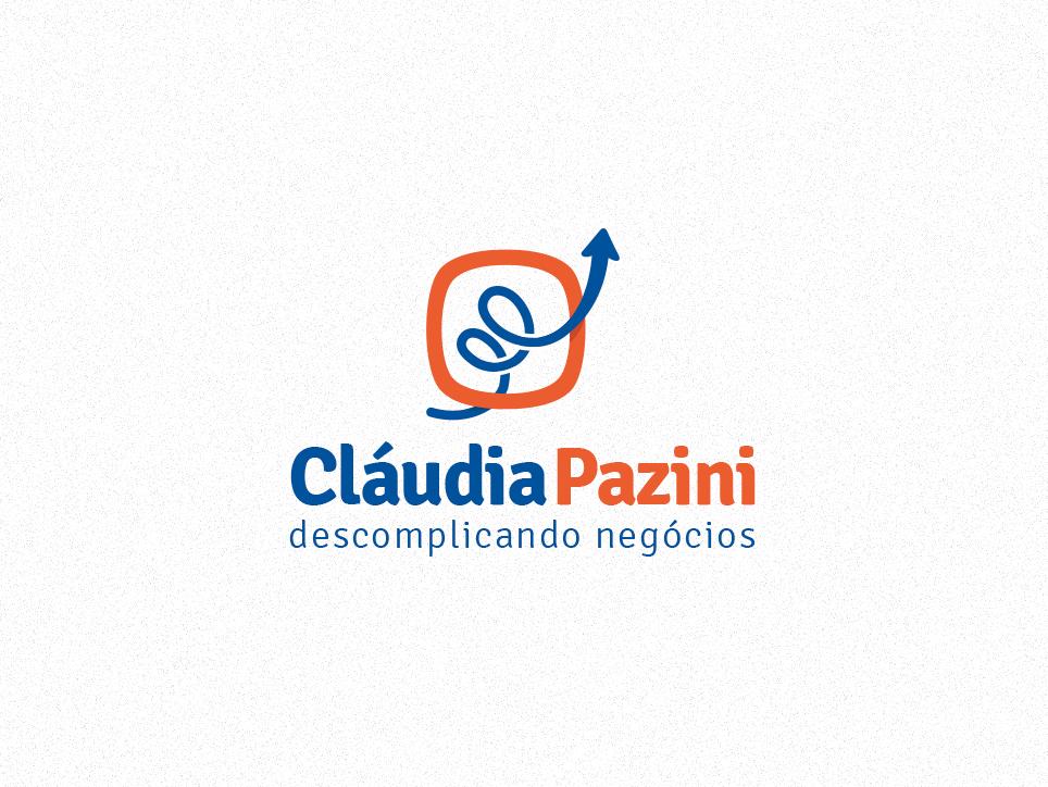 Cláudia Pazini - Vertical Aplication business modern clean design branding logo