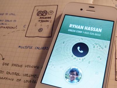 Incoming Call Prototype prototype iphone ios phone call