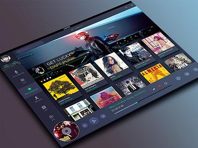 Baidu Music Ipad App Redesign app dark