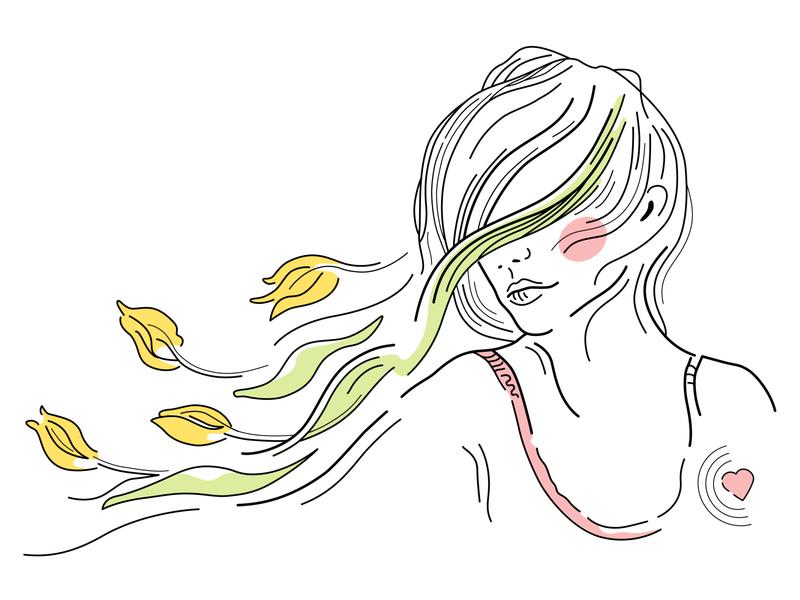 Spring Spleen Illustration spring spleen design magazine woman girl vector illustration