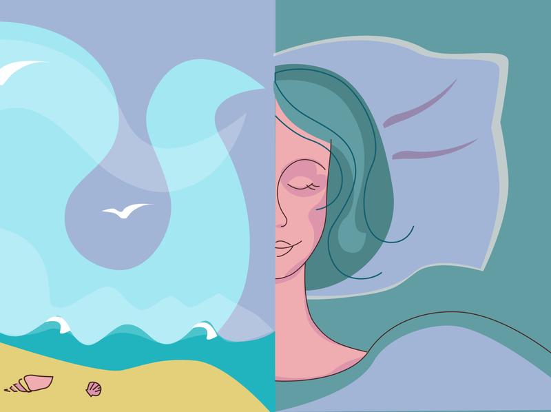 Dreams Sketch dreams woman girl vector illustration