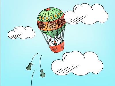 Balloon and Ballast design vector illustration deliverance hurricane storm ballast balloon
