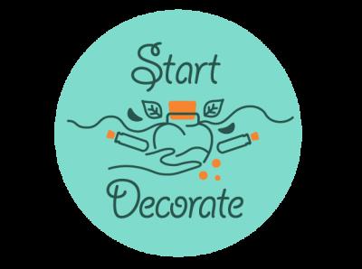 LOGO StartDecorate branding typography logo icon vector illustration