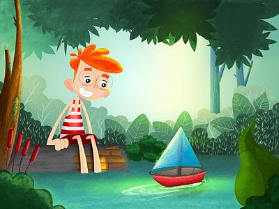 The little boat digital coloreo ilustracion dibujo tales stories children book illustration children book children art kids coloring color drawing animation design illustration