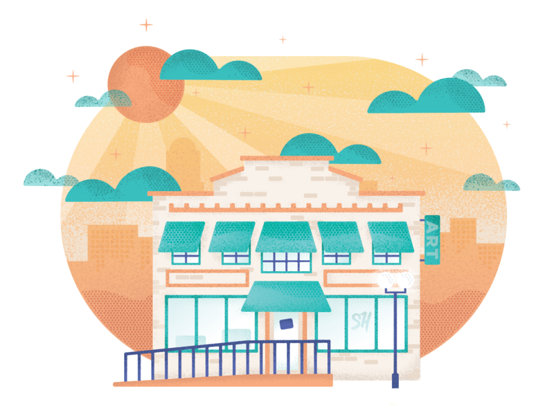 The Burkholder texture graphics illustration storyhook nebraska lincoln city illustration illustrator city building vector digital design