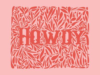 Howdy Partner linocut doodle austin texas yall texas howdy procreate art procreate vector design illustration