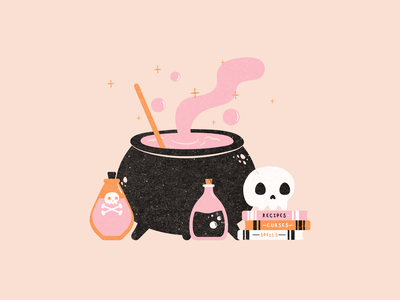 Witches Brew happyhalloween witches spooky textures witchesbrew witch halloween vector doodle vectober2020 vectober inktober2020 inktober illustration
